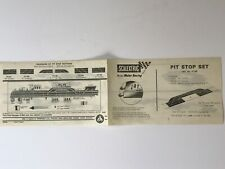 SCALEXTRIC ORIGINAL INSTRUCTIONS LEAFLET