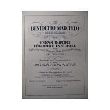 MARCELLO Benedetto Concerto Piano Hautbois partition sheet music score