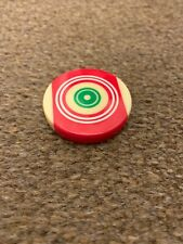 Red Circle Generic Carrom Board Striker Man Made Ivory Tournament with Case US