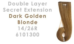 Double Layer Secret Extension Dark Golden Blonde 14/26R 6101300 Beauty Accessory