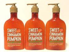 NEW 3 SWEET CINNAMON PUMPKIN BATH & BODY WORKS NOURISHING HAND SOAP WASH 8 FL OZ
