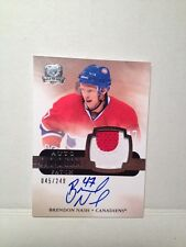 2011-12 The Cup Brendon Nash Au Patch Rc #154#/249 Montreal Canadiens