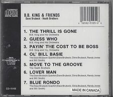 B.B. KING & FRIENDS'---NEW SEALED BLUES CD--Dave Brubeck and The Heath Brothers