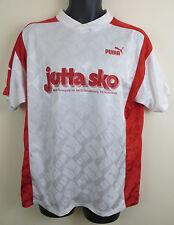 Puma Vtg 90s Retro Football Shirt Soccer Jersey Skjorte Trikot Maglia Large XL
