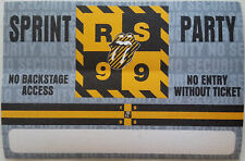ROLLING STONES - PARTY PASS - SPRINT - for the 1999 NO SECURITY TOUR - perfect