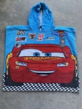 Disney Cars Lighting McQueen Hooded Towel Boys Beach Swimming Poncho