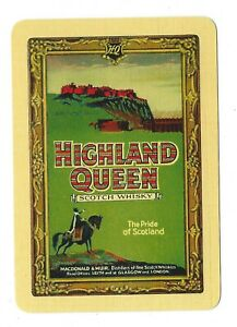 1 Genuine Vintage Swap Playing Card    OLD WIDE  Highland Queen