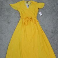 Volcom Women's Long Yellow Summer EZ Days Dress Size Small B13417X8 $98 Msrp