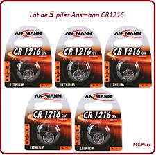 Lot de 5 piles boutons CR1216 lithium Ansmann, livraison rapide et gratuite