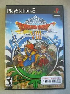 SONY PLAYSTATION 2 PS2 DRAGON QUEST VIII CASE AND INSERTS ORIGINAL