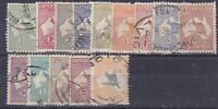 K670) Australia 1913 – 46 simplified set ½d to 5/- good to fine used