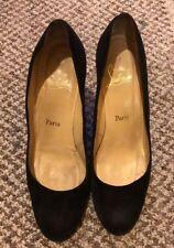 christian louboutin Black Suede Wedge Heels Size 40.5
