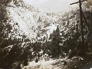 Rocky Mountains Colorado Scene from Train 1915 Antique Snapshot Photo