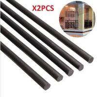 2pcs 6mm Diameter x 500mm Carbon Fiber Rods For RC Airplane High Quality Pole