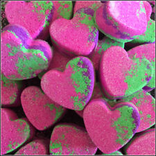 10X UNICORN RAINBOW MINI HEART GLITTER BATH BOMBS-Great party favour GIFT PACK