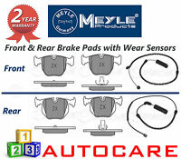 BMW X5 E53 Meyle Front & Rear Brake Pads Wear Indicator Sensors 3.0 4.4 3.0D