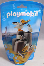 PLAYMOBIL Tüte 9070 Pelikan-Familie 2 Vögel 2 Küken 3 Fische Zoo Tierpark NEU