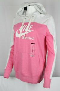 Women's Nike Sportswear Vintage Hoodie XL Pink Pullover Gym Casual Training