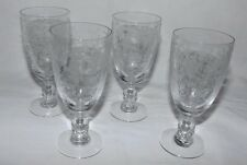 """(Set of 4) Duncan and Miller FIRST LOVE 5 1/4"""" Footed JUICE Goblets"""