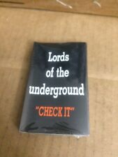 LORDS OF THE UNDERGROUND CHECK IT FACTORY SEALED CASSETTE SINGLE 7
