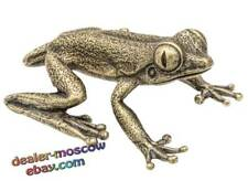 Bronze Solid Brass Figurine Tropical Frog IronWork Miniature