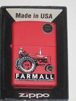 IH ZIPPO USA LIGHTER 68866 FARM TRACTOR FARMALL J I CASE M H AMERICAN PRIDE AGCO