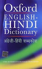 The Oxford English-Hindi Dictionary by R.N. Sahai Hardback Book The Fast Free