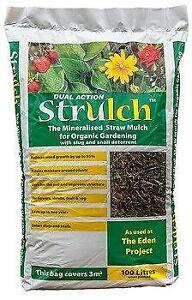 Strulch Straw Mulch Material 100L Bag
