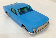 Vintage Blue Ford Mustang Friction Toy Car Bandai Japan