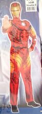 Adults Men's Marvel Comics Avengers Iron Man Muscle Costume One Size Fits Most