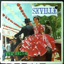 VIEW MASTER 14 PHOTOS EN RELIEF - SEVILLE - INCOMPLET - années 70