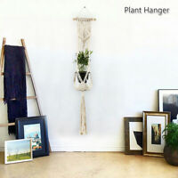 Pot Holder Macrame Plant Hanger Hanging  Basket Hemp Rope Braided Garden Holder
