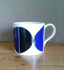 Sir Terry Frost designed Black & Blue Mug - Royal Academy - geometric - reduced!