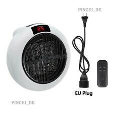 900W Mini Air Heater Small Room Winter Warmer Fan w/ Remote Long Cable Stand