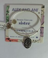 Alex and Ani Because I Love You SISTER  Bangle Bracelet New/Tags BOX R Silver