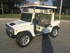 2009 WHITE ACG Hummer Golf Cart 4 Passenger Seat Custom Street Legal Canopy