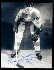 Red Horner Toronto Maple Leafs Signed 8x10 Photo!