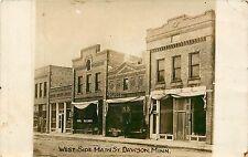 Minnesota, MN, Dawson, West Side Main Street 1914 Real Photo Postcard