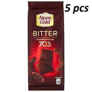 Alpen Gold Bitter Chocolate Bitter 70% 5 pcs x 85g (3 oz)