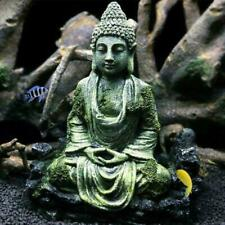Resin Ancient Imitation Buddha Statue Ruins Fish Tank Decor Aquarium Ornament