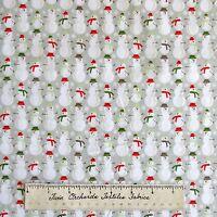 Merry Little Christmas Fabric - Snowman Retro Gray - Riley Blake Cotton YARD