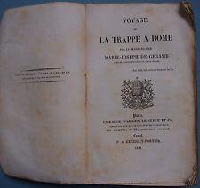 VOYAGE de la Trappe à Rome par M.J. de Geramb 1841