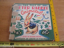 1943 The Tale of Peter Rabbit Animated Beatrix Potter book Julian Wehr pop-up