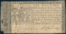 MD-47 MARYLAND COLONIAL CURRENCY ISSUED JAN 1,1776 -- VF -- HV4175