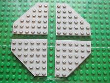 Lego 4 x Technic Light Grey Angled Base Plate / Flat Board 6 x 6 Pin