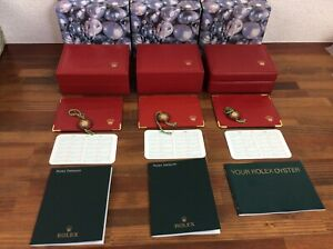 Rolex Watch Box set of 3 + Booklets Card Holders Tags etc + Free Post