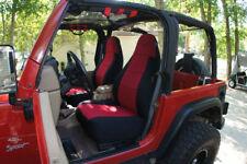 Jeep Wrangler TJ 2 Genuine Neoprene Front & Rear Coverking Custom Seat Covers