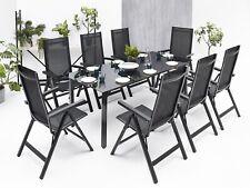 8+1 Sitzgruppe Gartenmöbel Gartengarnitur Tisch Stuhl Essgruppe Gartenset