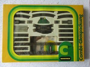 Minitrix 4995 Spur N Set C Combi-Gleispackung  gebraucht