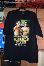 Oscar De la Hoya Las Vegas, 2006 Boxing T Shirt, Black, XXL
